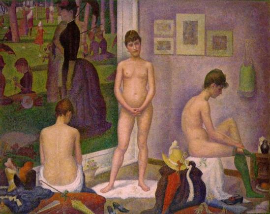 Georges Seurat. Les poseuses 1887-1888