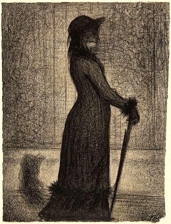 Georges Seurat. Woman strolling 1884