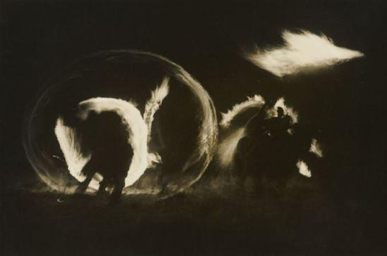 Hiroshi Hamaya. Fire festival, new year's ritual 1940-1946 Via npr