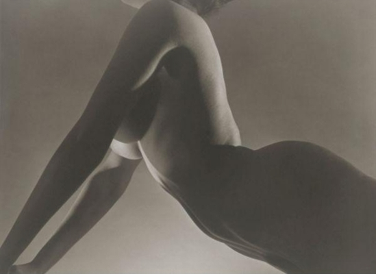 Horst P. Horst. Female nude, Push-up, New York 1953 Via mutualart