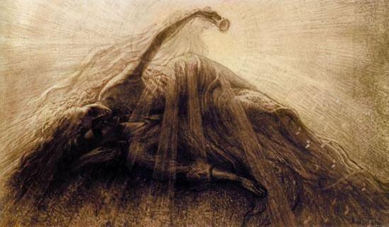 Jean Delville (1867-1963), Tristan et Yseult 1887