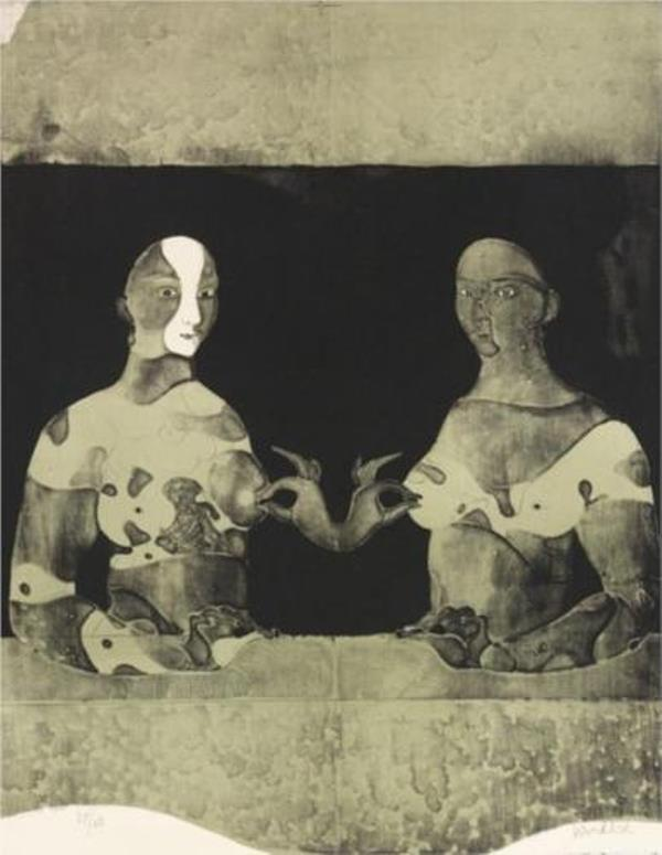 Paul Wunderlich. Bosomfriends 1965