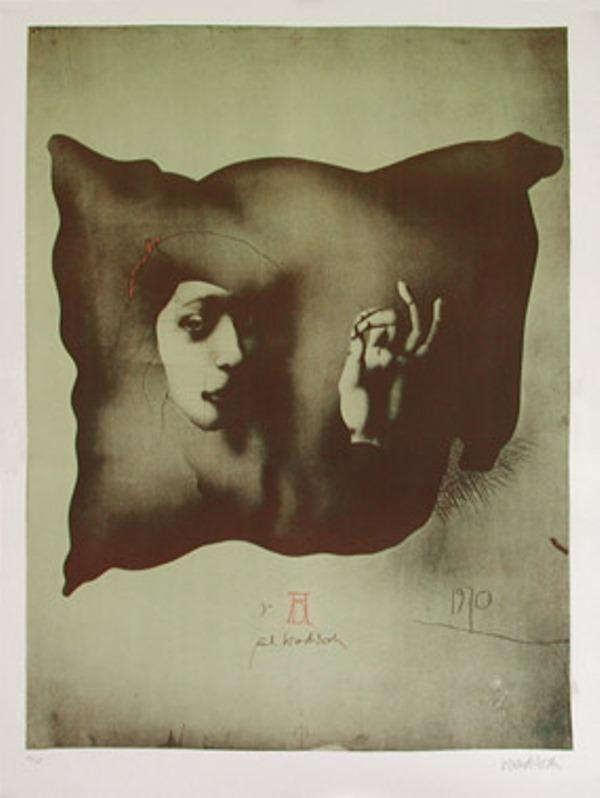 Paul Wunderlich. Entwurf fur ein Nurnberger Kissen 1970
