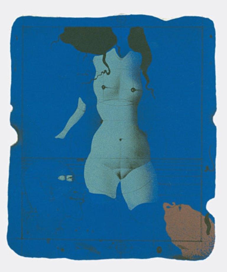 Paul Wunderlich. Torso sur une Pierre Bleue from Souvenirs de Portraits d'Artistes. Jacques Prévert, Le Coeur à l'ouvrage 1972