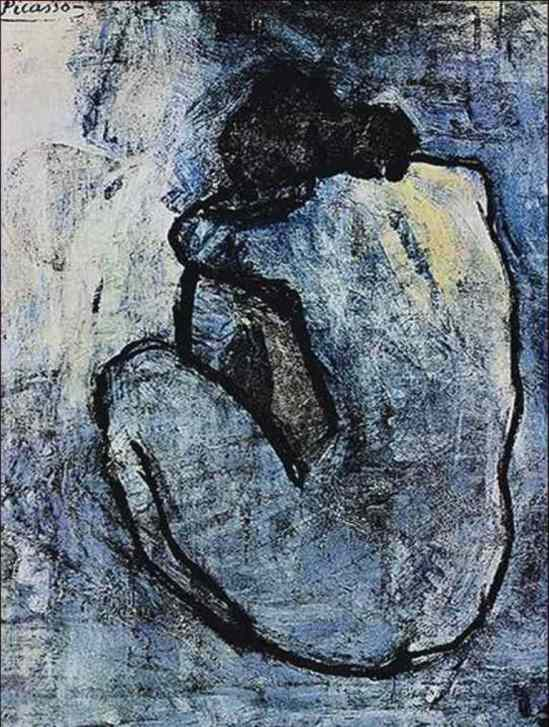 Blue Nude, 1902 by Pablo Picasso