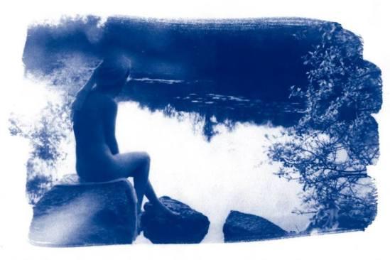 ®Paul Von Borax. Série Les baigneuses. Cyanotype