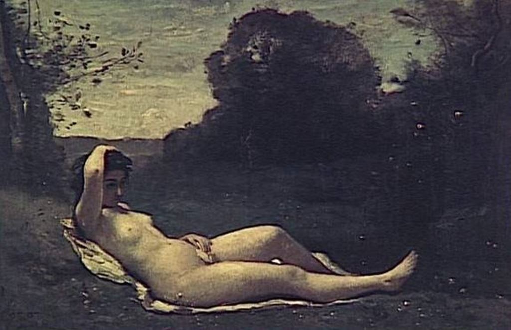 Jean-Baptiste Camille Corot. Nymphe couchée à la campagne 1859