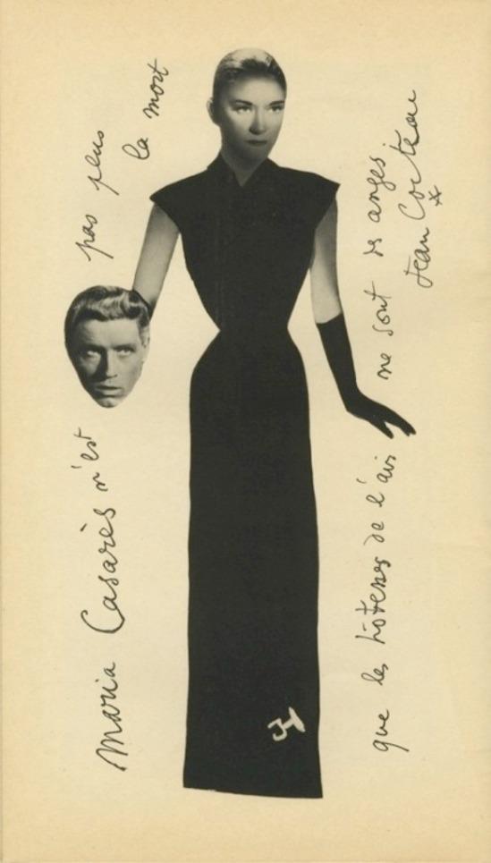 Jean Cocteau. Maria Casarès dans Orphée de Jean Cocteau 1950
