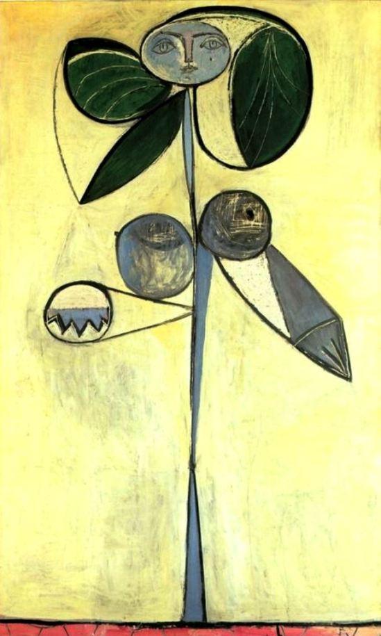 Pablo Picasso. La femme fleur (Woman flower) Francoise Gilot 1946