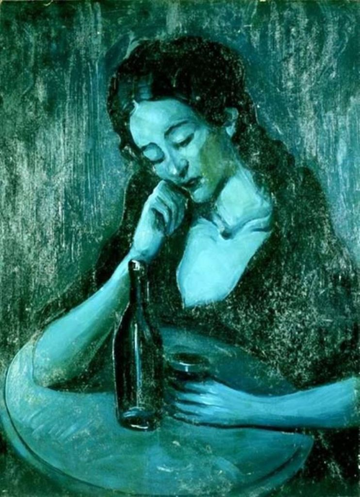 Pablo Picasso. Lady at eden concert  1903