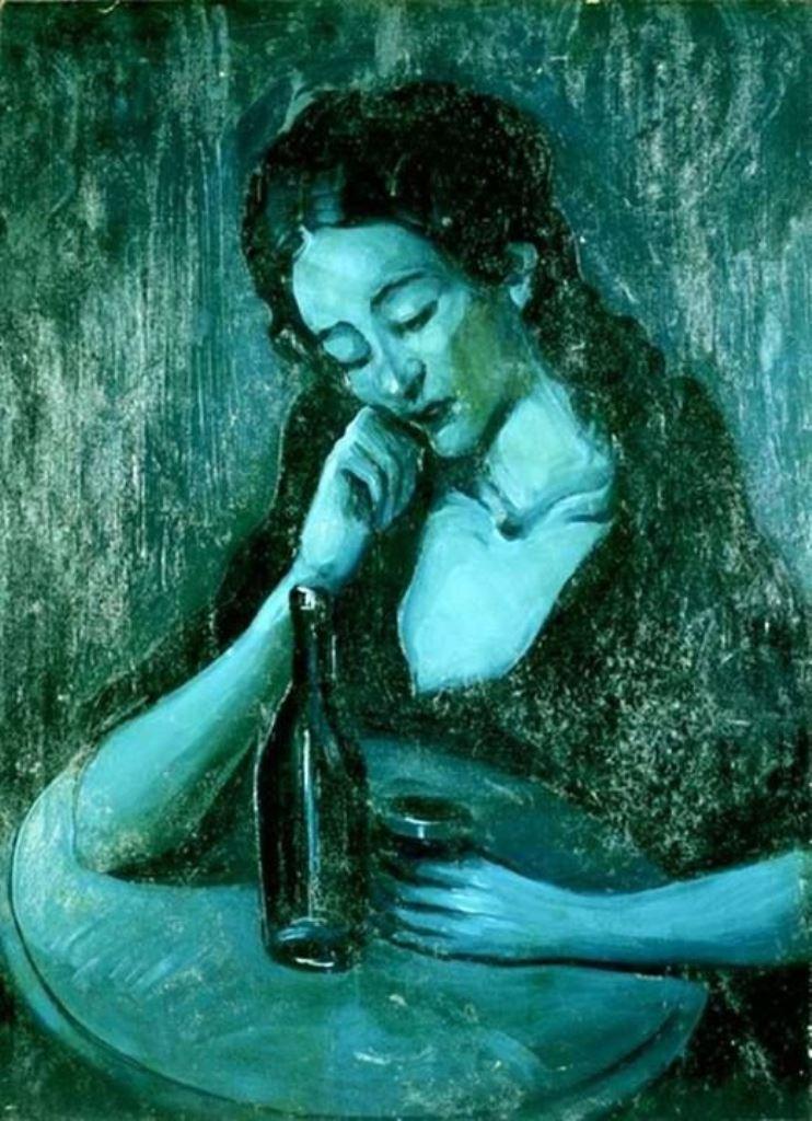Pablo Picasso. Lady at eden concert  1903