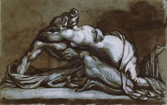 Théodore Géricault (1791-1824). L'étreinte