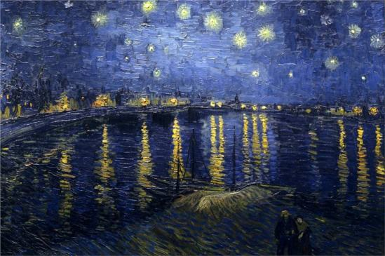 Vincent van Gogh. The starry night over the Rhone 1888