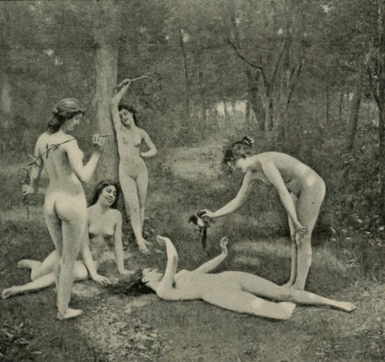 Alexandre Jacques Chantron. Les nymphes s'amusent. Catalogue illustré du Salon de 1901
