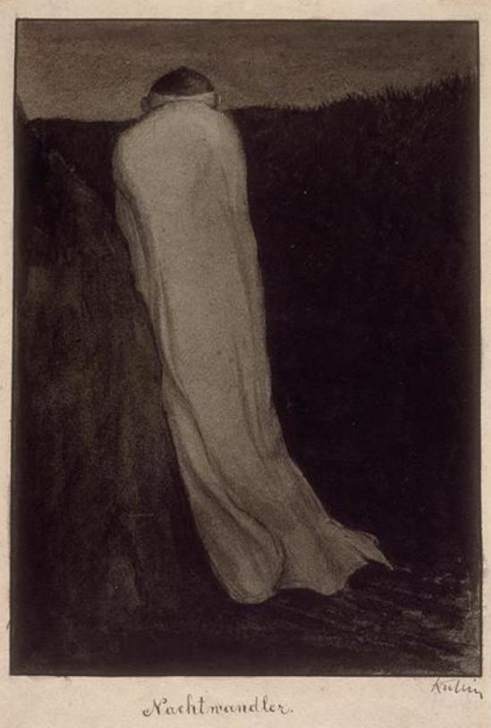 Alfred Kubin. Somnambule ou Le promeneur de la nuit  1904