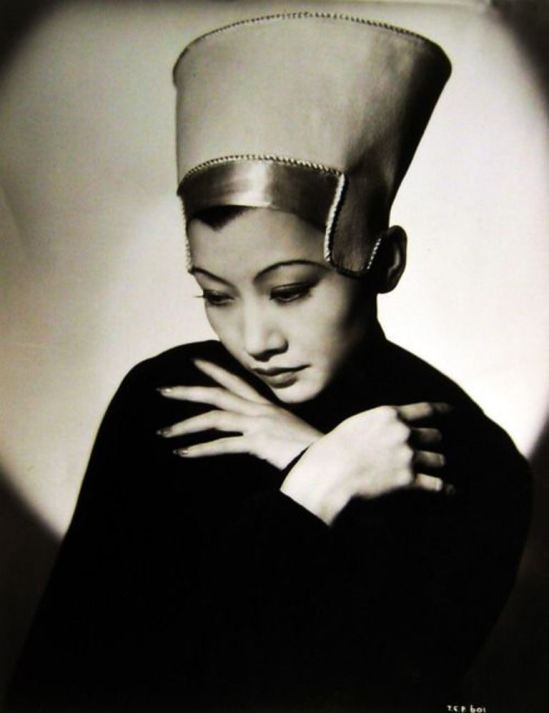 Anna May Wong with Néfertiti Hat 1930s