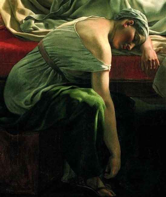 Christoffer Wilhelm Eckersberg. A sleeping woman in antique costume 1813