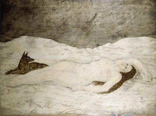 Deésse de la neige - Tsuguharu Foujita 1924