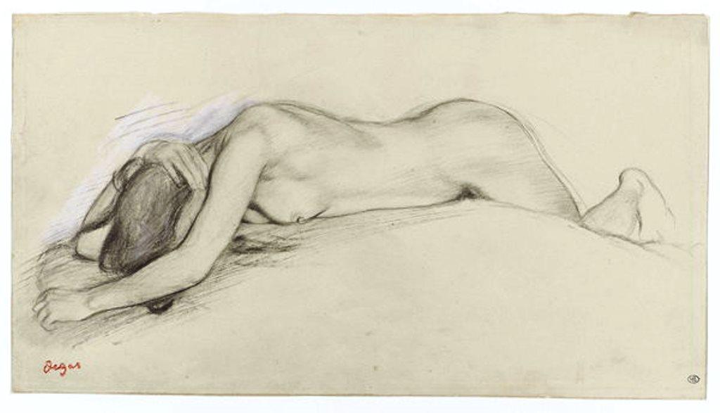 Edgar Degas. Femme nue couchée sur le ventre, la tête entre les bras