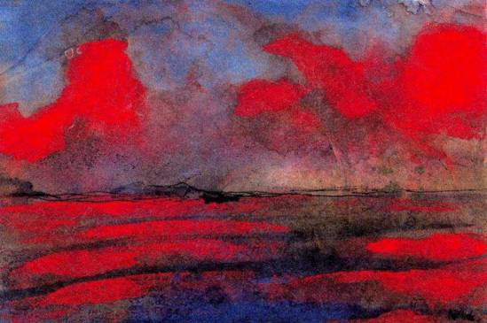 Emil Nolde. Landscape in red light, date inconnue