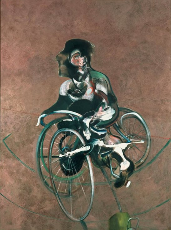Francis Bacon. Portrait of George Dyer riding a bicycle 1966. Oil on canvas © Estate of Francis Bacon