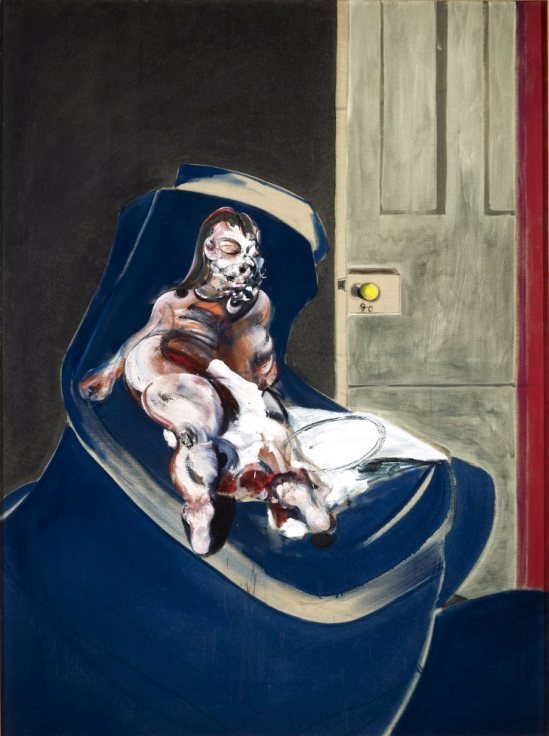 Francis Bacon. Portrait of Henrietta Moraes on a blue couch 1965. Oil on canvas © Estate of Francis Bacon