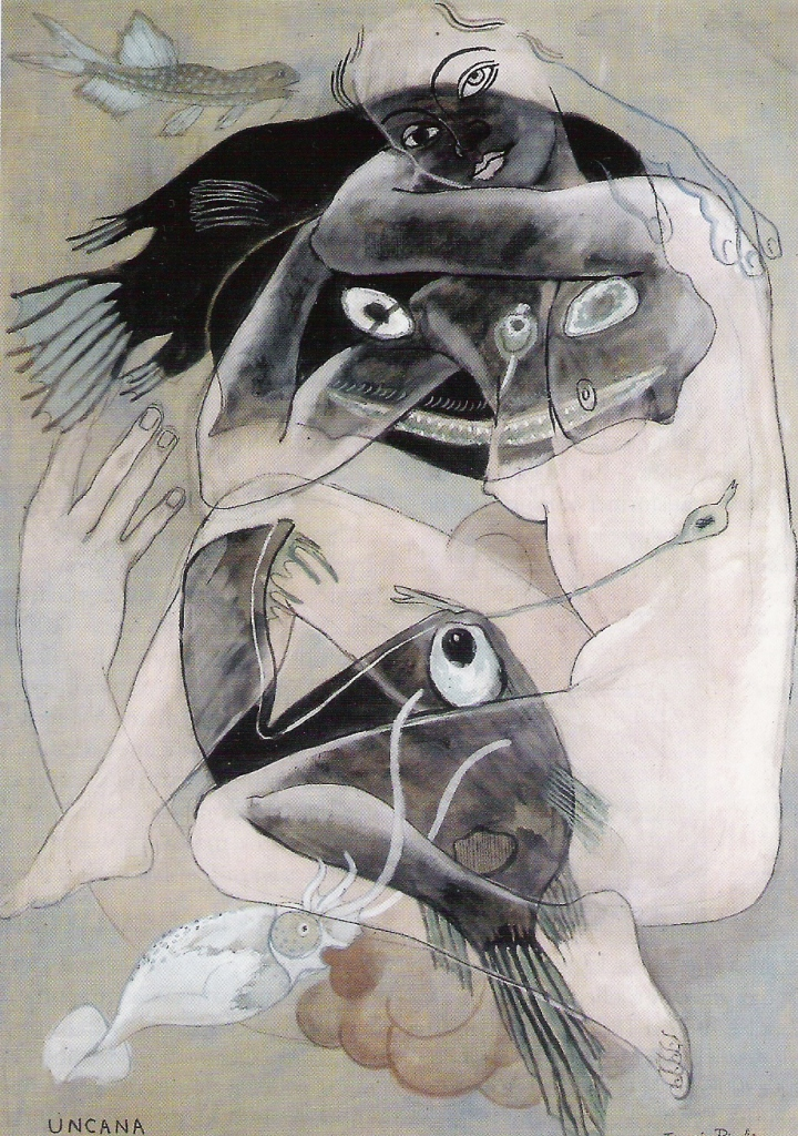 Francis Picabia. Uncana vers 1929. Gouache et crayon noir sur papier