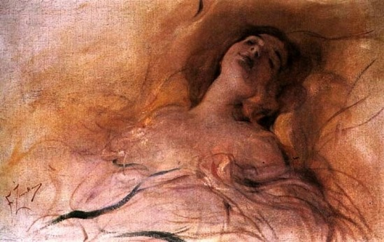 Franciszek Zmurko(1859-1910). In delightful dream