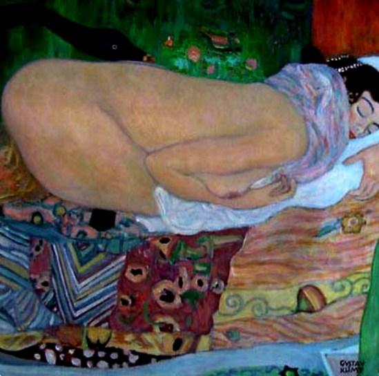 Gustav Klimt. Léda et le cygne 1917. Destroyed by fire in 1945
