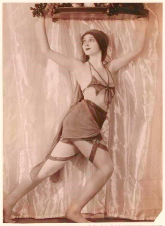 Ira D. Schwarz. Ballerina dancing with a platter of fruit. Via nypl