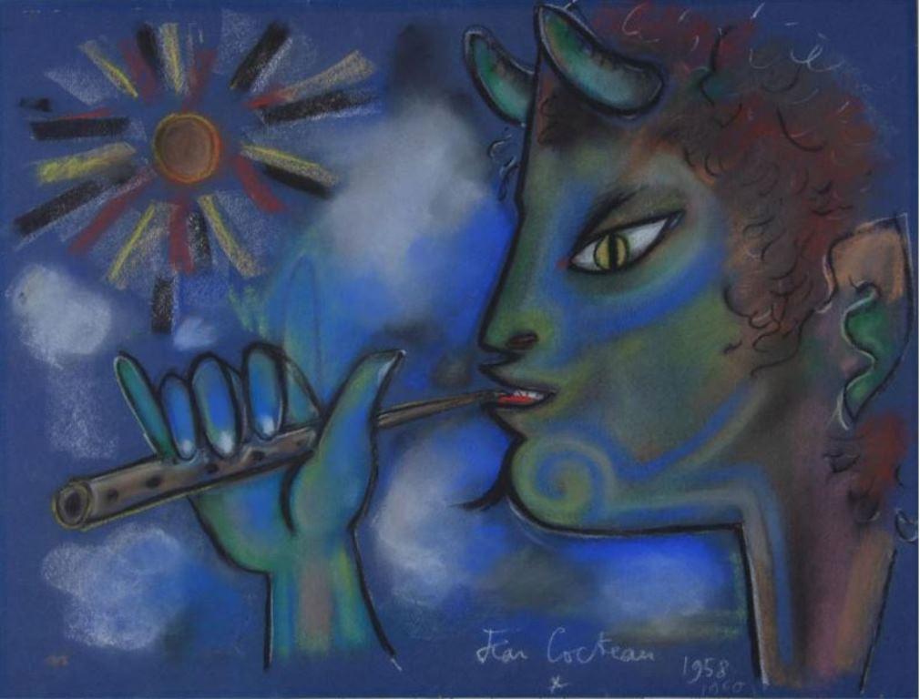 Jean Cocteau. Faune jouant de la flûte 1958-1960® adagp Paris. Via muséecocteau