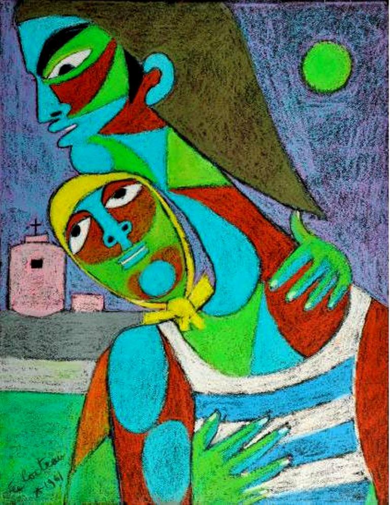 Jean Cocteau. Innamorati, les adieux du pêcheur et de la jeune fille. Via muséecocteau