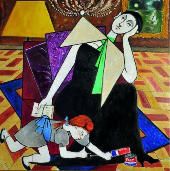 Jean Cocteau. Madame Favini 1953 ®adagp Paris. Via muséecocteau