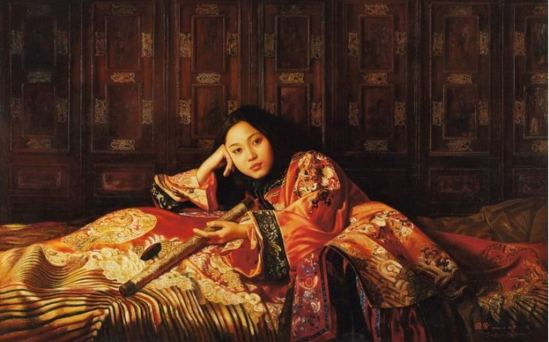 Jiang Guo Fang. The eldest princess 1995. Huile sur toile