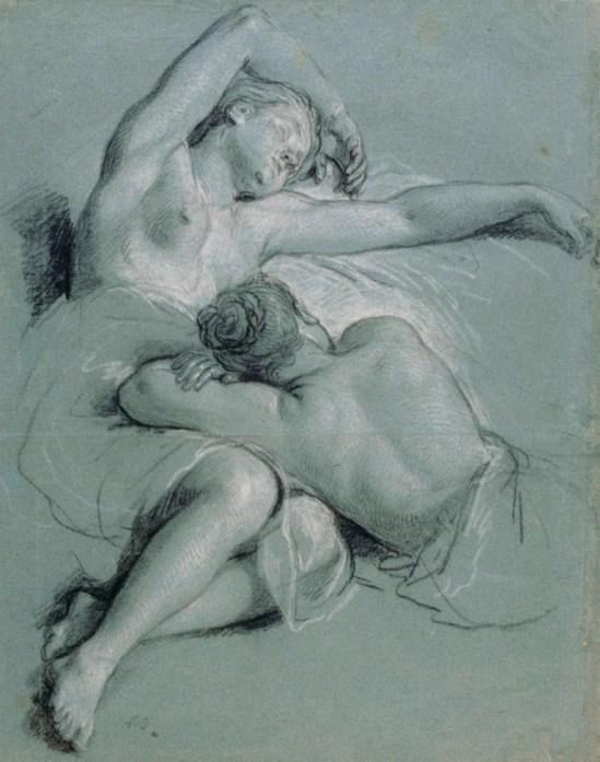 Louis de Boullogne. Deux jeunes femmes endormies 1707