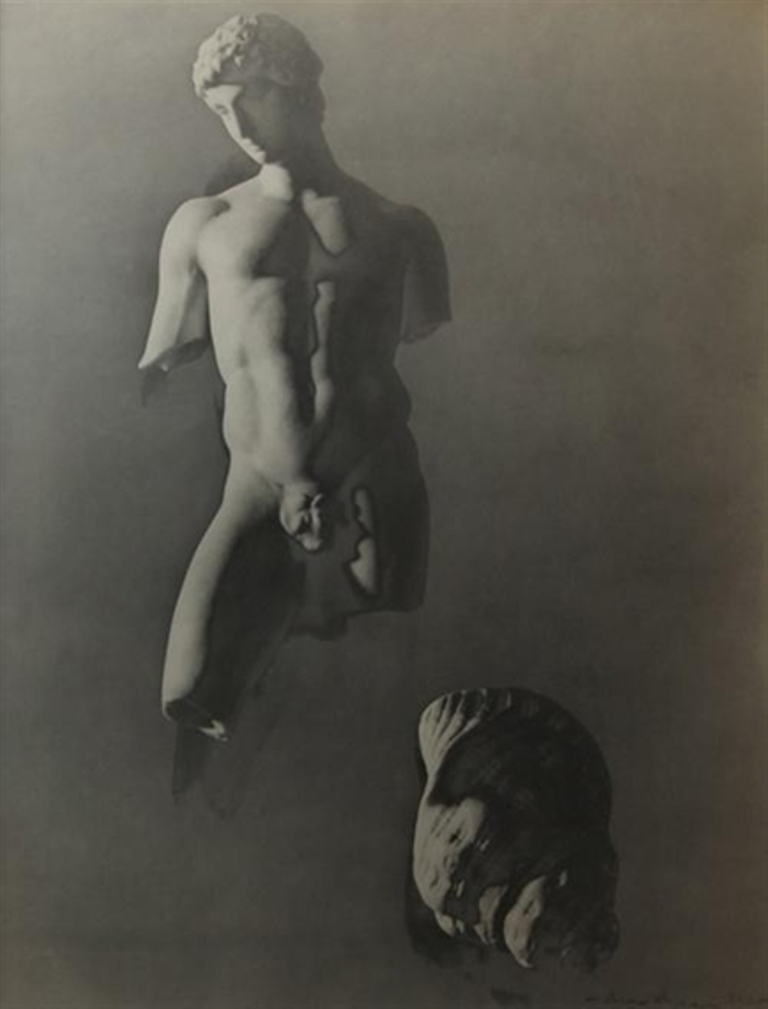 Max Dupain. Surrealist work. Torso and shell 1930. Via mutualart