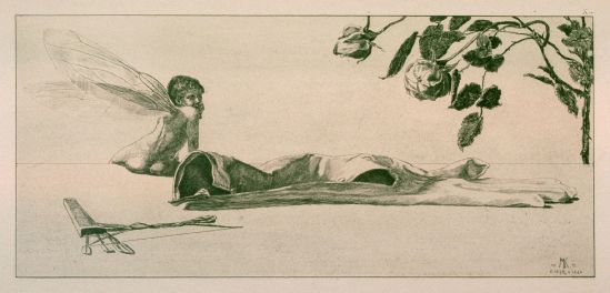 Max Klinger. Amor (Cupid), plate 10 from A glove 1881