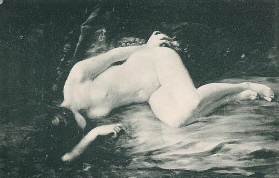 Pierre Desire Eugene Franc Lamy (1855-1919). Femme nue