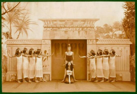 Putman and Valentine Firm.  Shawn's Egyptian ballet with the first group ever called Denishawn Dancers 1915. Via nypl