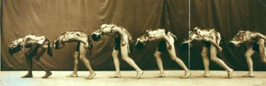 Putman and Valentine Firm.  Shawn's men dancers in Wolf Dance 1918. Via nypl