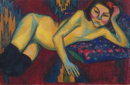 Sonia Delaunay. Le nu jaune 1908
