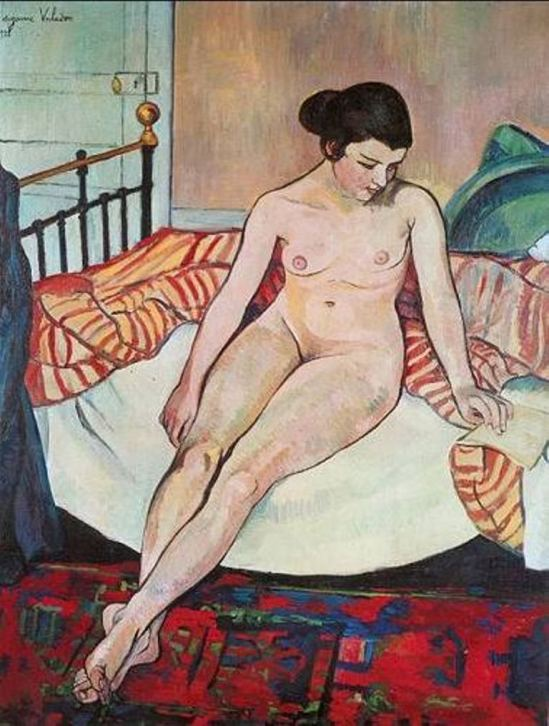 Suzanne Valadon. Nude with a striped blanket 1922