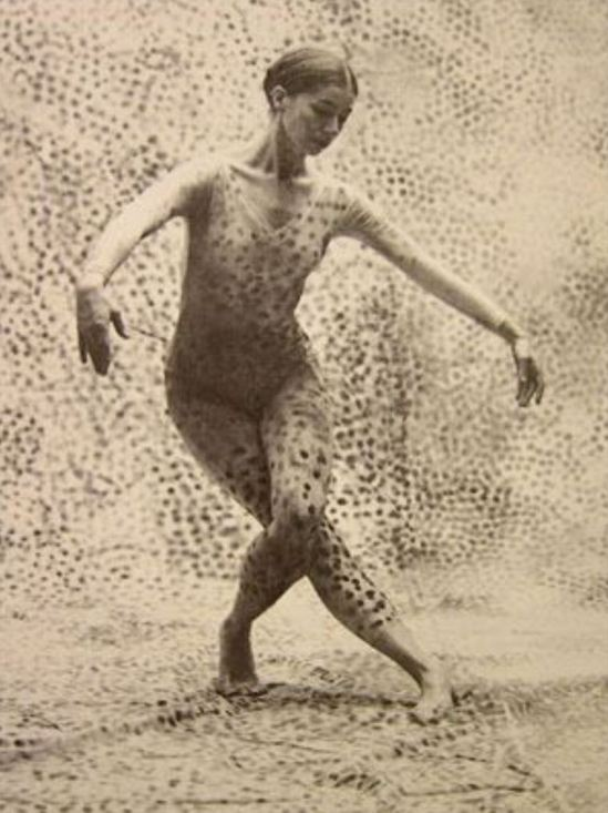 Viola Farber in Summerspace by Merce Cunningham, design by Robert Rauschenberg. 1958