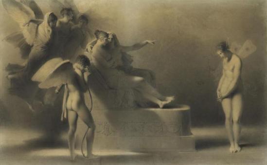 Alexandre-Evariste Fragonard. Psyché reconnaissant ses fautes devant Vénus