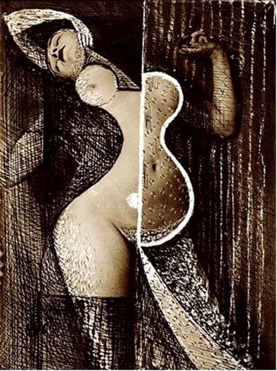 Brassaï. Série Transmutation. Odalisque 1935. Gravure. Via artnet
