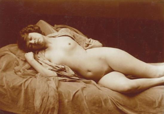 Charles Augustin Lhermitte. Nu féminin allongé vers 1912. Via rmn
