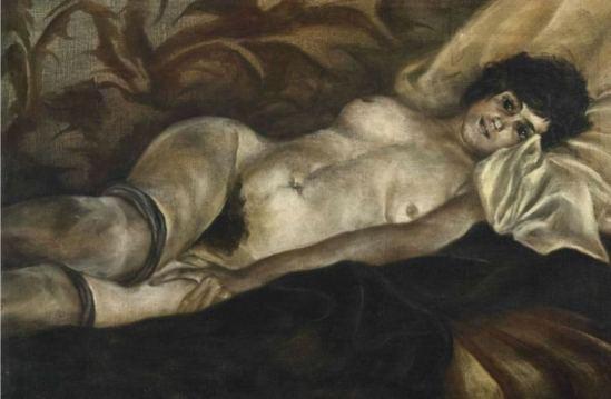 Christian Schad. Liegender akt 1920