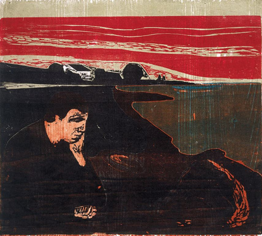 Edvard Munch. Evening. Melancholy I 1896