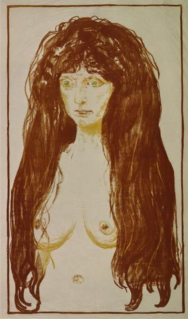 Edvard Munch. Le péché (Nu aux cheveux roux et yeux verts)