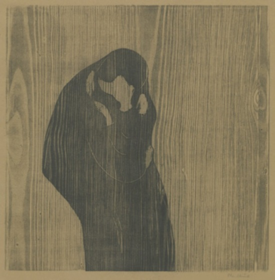 Edvard Munch. The kiss IV 1897-1902. Woodcut